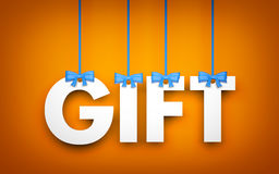 Gift - word hanging on rope Royalty Free Stock Photos
