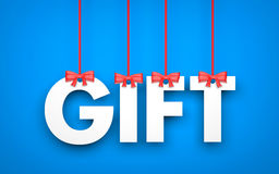 Gift - word hanging on rope Stock Photos