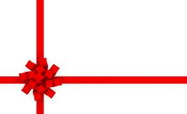 Gift Wrap. Bow Ribbon for Presents Background Royalty Free Stock Images