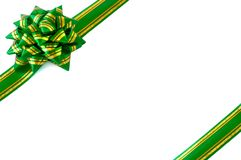 Gift wrap bow green Stock Images