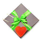 Gift wrap and heart Royalty Free Stock Photography
