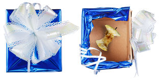Gift wrap, a nasty surprise Stock Photography