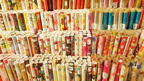Gift wrap paper collection Stock Image
