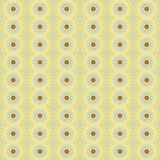 Gift wrap paper with daisy flowers. Yellow wrapping paper with seamless pattern of daisy flowers   digital art Royalty Free Stock Images