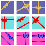 Gift wrap with ribbon and bow Royalty Free Stock Images
