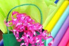 Gift wrap rolls Stock Photo