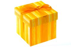 Gift wrapped box Stock Photography