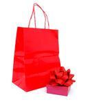 Gift wrapped box Royalty Free Stock Images