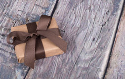 Gift Wrapped in Brown Paper Royalty Free Stock Image