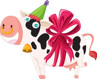 Gift wrapped cow. Illustration of a gift wrapped cow Royalty Free Stock Photo