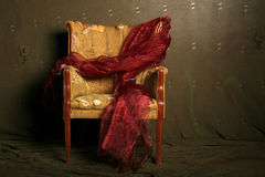 Gift wrapped dramatic chair Royalty Free Stock Photos