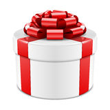 Gift wrapped present with bow Stock Photos