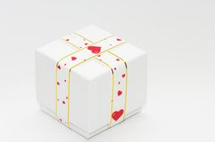 Gift wrapped with ribbon Stock Photography