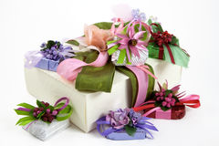 Gift-wrapped sweets Stock Photo