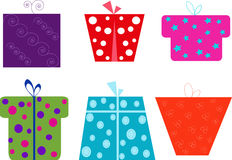 Gift Wrapper Icons for Websites royalty free stock images