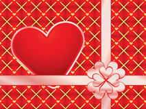 Gift wrapper with red valentine Royalty Free Stock Photography