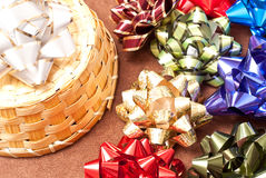 Gift Wrapping Bows Royalty Free Stock Photos