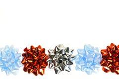 Gift wrapping bows border Royalty Free Stock Photo