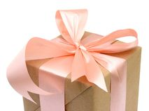 Gift wrapping box Royalty Free Stock Photo