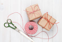 Gift wrapping Stock Photography