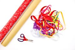 Gift Wrapping Items Royalty Free Stock Photo