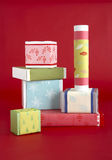 Gift wrapping materials Royalty Free Stock Photo