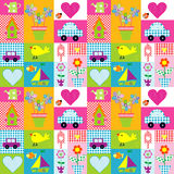 Gift wrapping paper background for kids Royalty Free Stock Images
