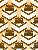 Gift Wrapping Paper. Box bow gift pattern Royalty Free Stock Images