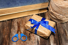 Gift in wrapping paper Stock Image