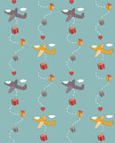 Gift wrapping paper Stock Images