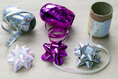Gift Wrapping Ribbons and Bows Stock Photos