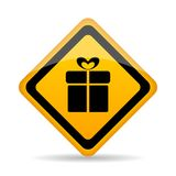 Gift wrapping service vector icon royalty free illustration