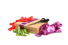Gift wrapping workshop Royalty Free Stock Photography