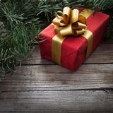 Gift for xmas. Or new year Stock Images