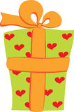 Gift with yellow ribbon Stock Photo