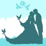 Gifta sig älska par Arkivfoton