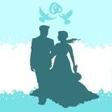 Gifta sig älska par Royaltyfria Bilder