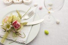 Gifta sig äta middag Arkivbild