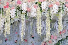 Gifta sig bågen och att gifta sig dekoren Arkivbild