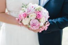 Gifta sig blommabrudcirklar Royaltyfri Foto
