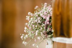 Gifta sig blommabukettcirklar Arkivbilder