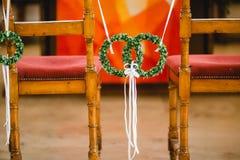 Gifta sig blommabukettcirklar Arkivfoto