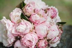 Gifta sig blommabukettcirklar Fotografering för Bildbyråer