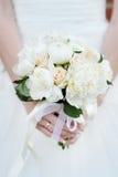 Gifta sig blommabuketten fotografering för bildbyråer