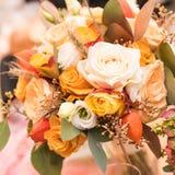 Gifta sig blommabukettgarnering Fotografering för Bildbyråer