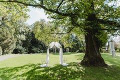 Gifta sig blommadekorcirklar Royaltyfria Foton