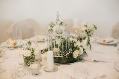 Gifta sig blommadekorcirklar Arkivbild