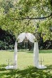 Gifta sig blommadekorcirklar Arkivfoto