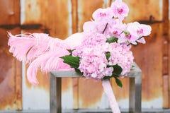 Gifta sig brud- höjdpunkt Fotografering för Bildbyråer