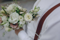 Gifta sig brudgummen HD Royaltyfria Bilder